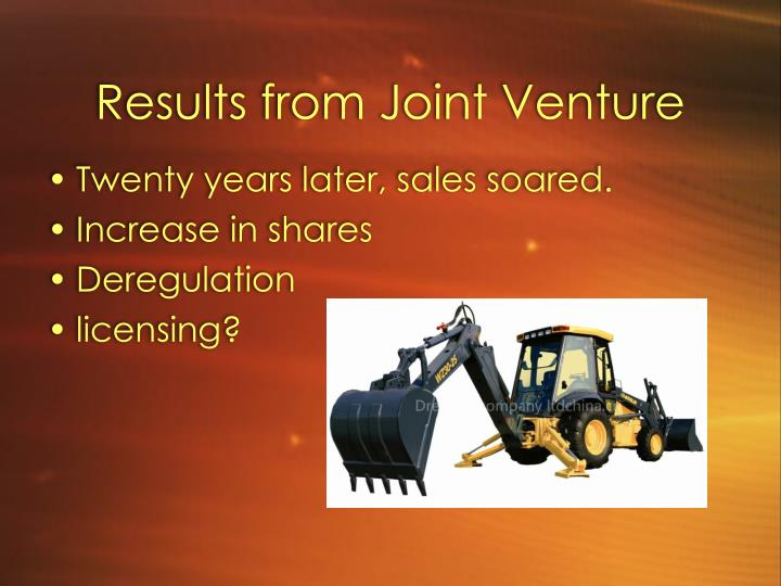 Results from Joint Venture