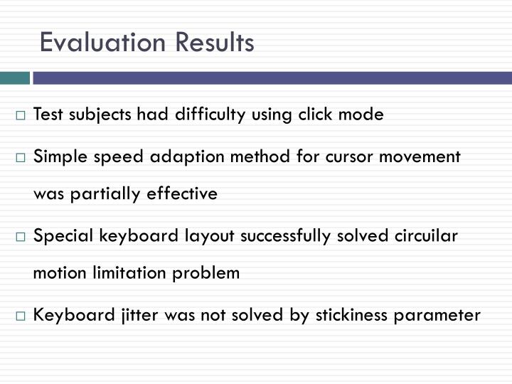 Evaluation Results