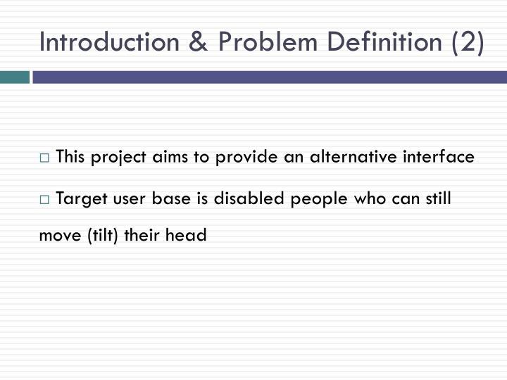 Introduction & Problem
