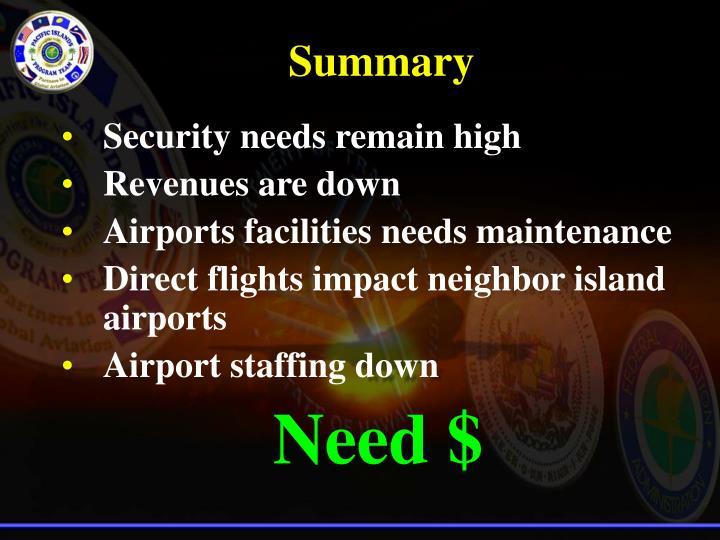 Security needs remain high
