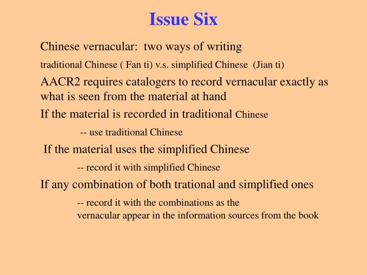 Issue Six