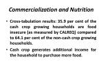 commercialization and nutrition
