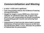 commercialization and wasting