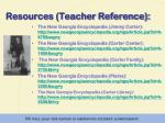 resources teacher reference