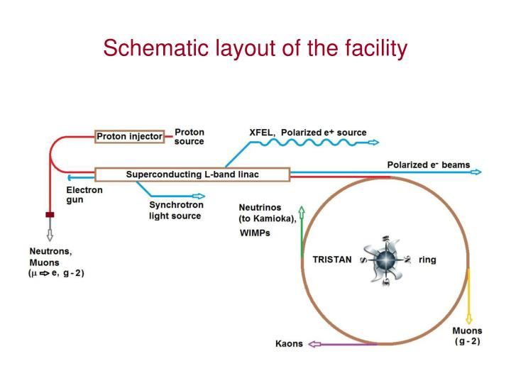 Schematic layout of the facility