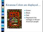 kwanzaa colors are displayed
