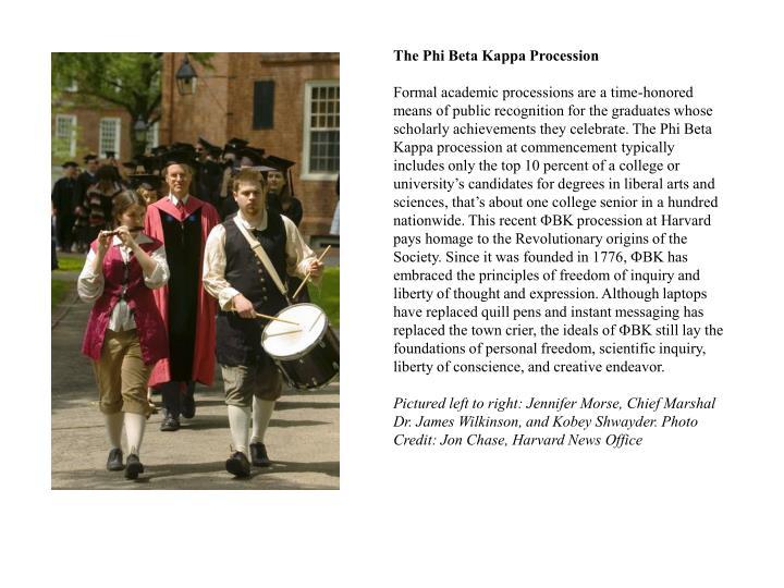 The Phi Beta Kappa Procession