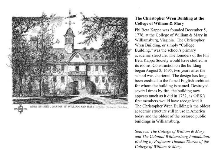 The Christopher Wren Building at the College of William & Mary