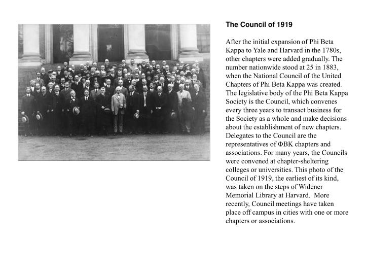 The Council of 1919