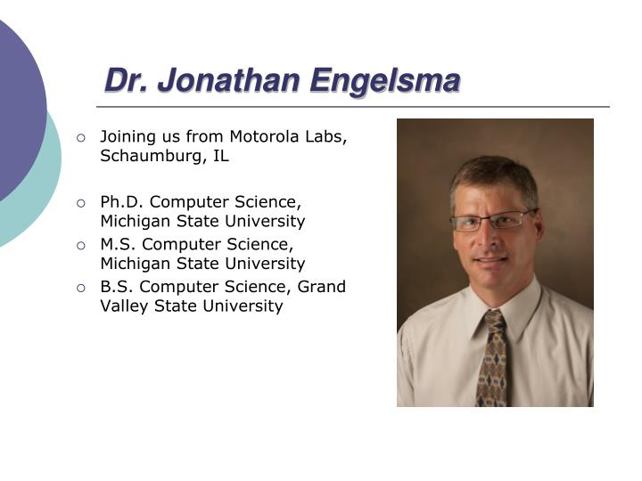 Dr. Jonathan Engelsma