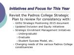initiatives and focus for this year1