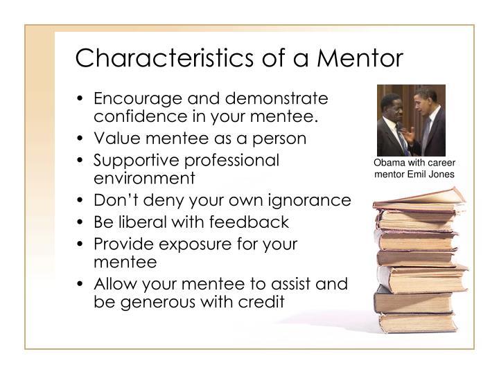 Characteristics of a Mentor