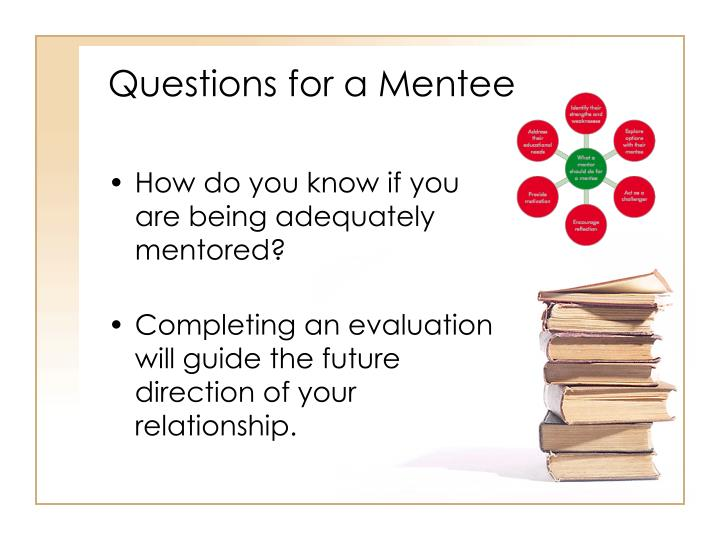 Questions for a Mentee