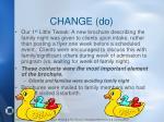 change do
