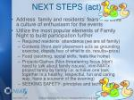 next steps act
