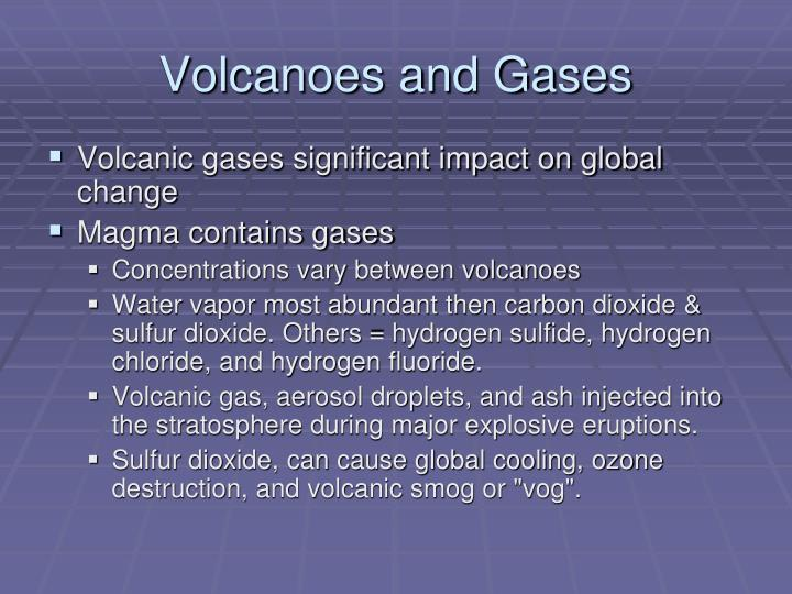 Volcanoes and gases