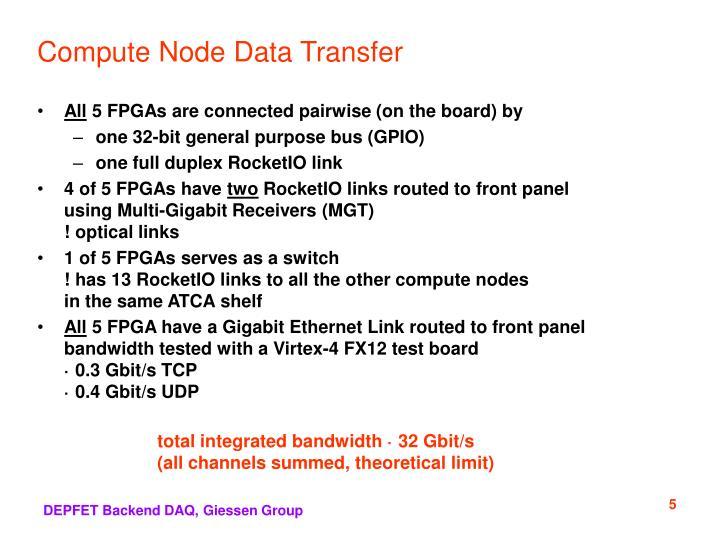 Compute Node Data Transfer