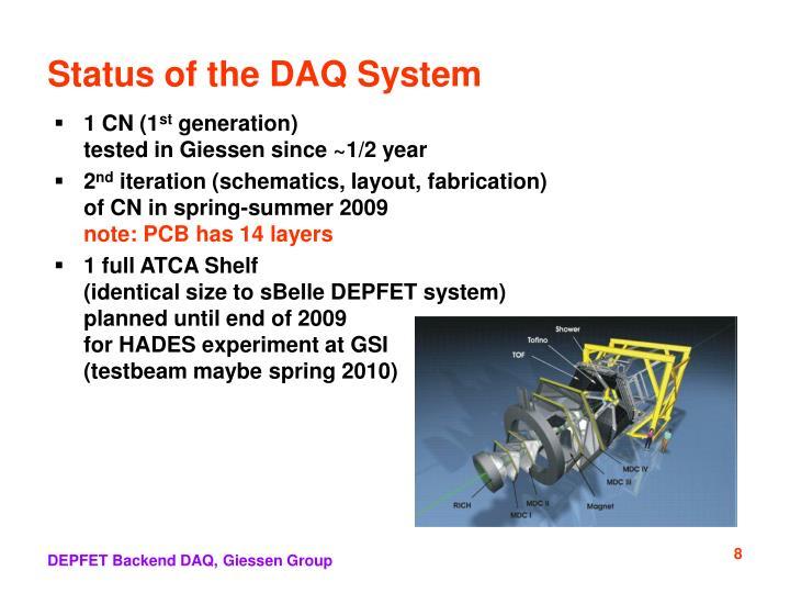 Status of the DAQ System
