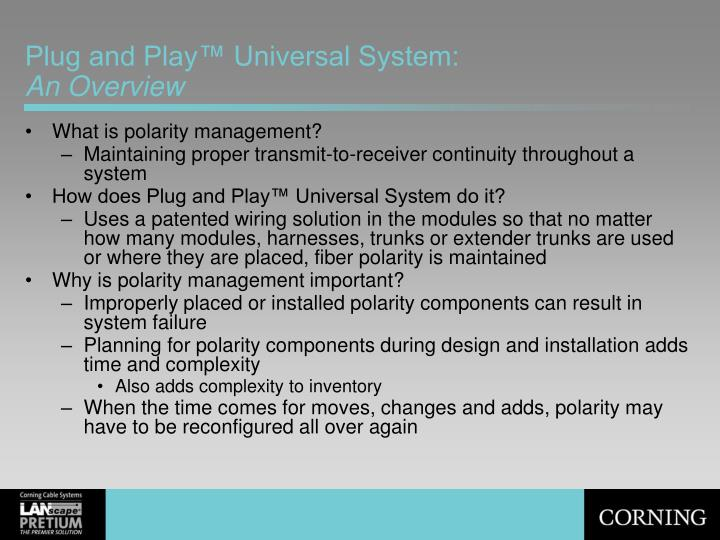 Plug and play universal system an overview
