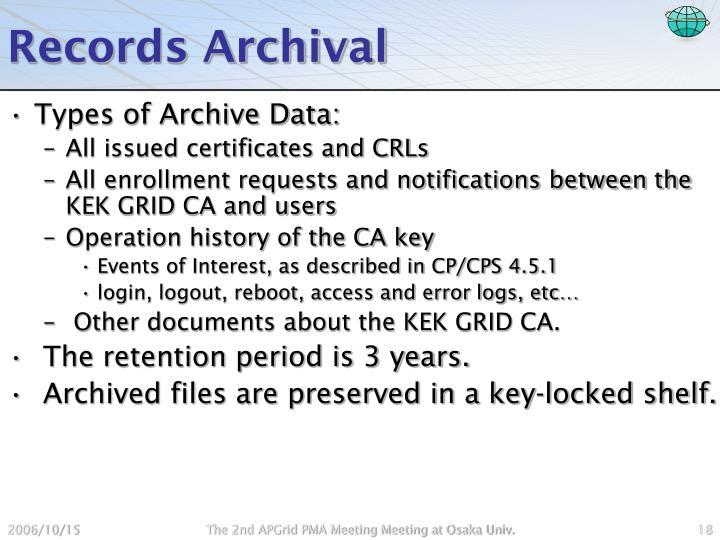 Records Archival