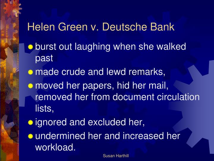 Helen Green v. Deutsche Bank