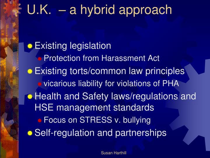 U.K.  – a hybrid approach