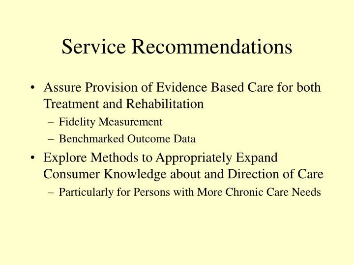 Service Recommendations
