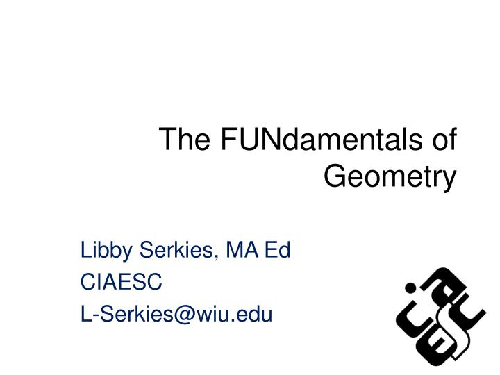 the fundamentals of geometry