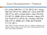 court developments federal
