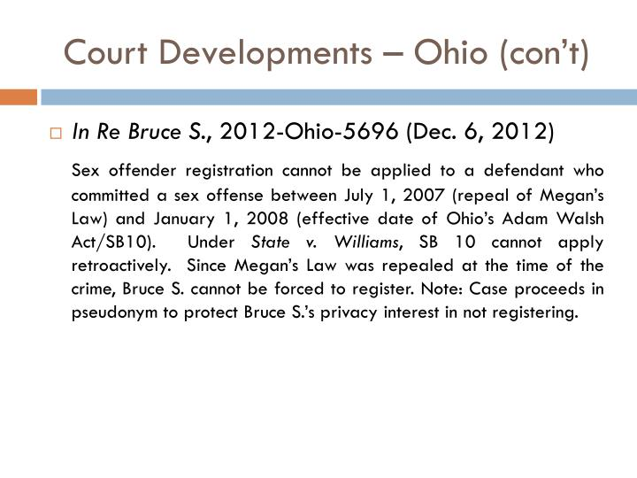 Court Developments – Ohio (