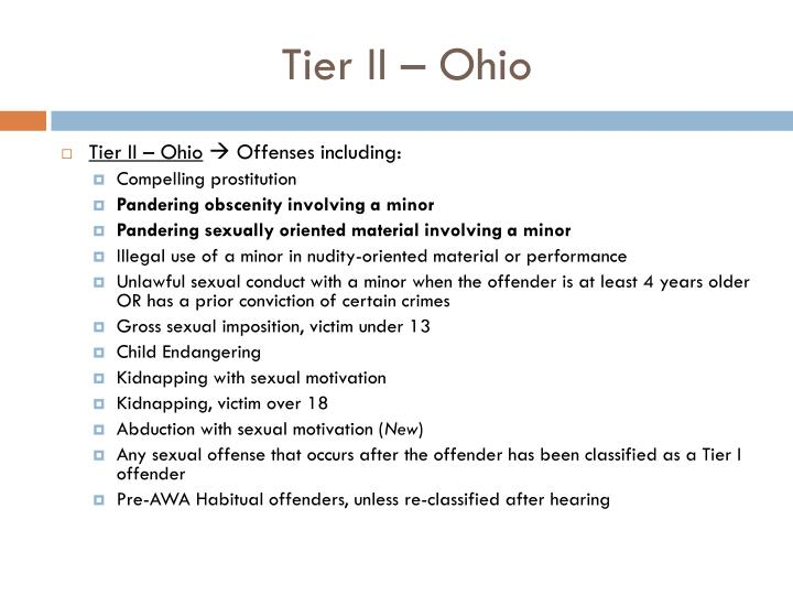 Tier II – Ohio