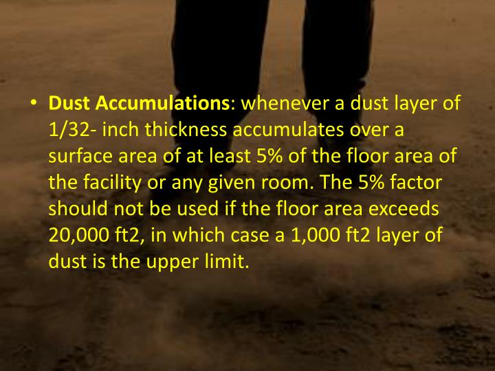 Dust Accumulations