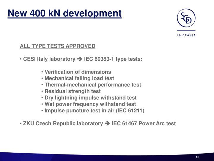New 400 kN development