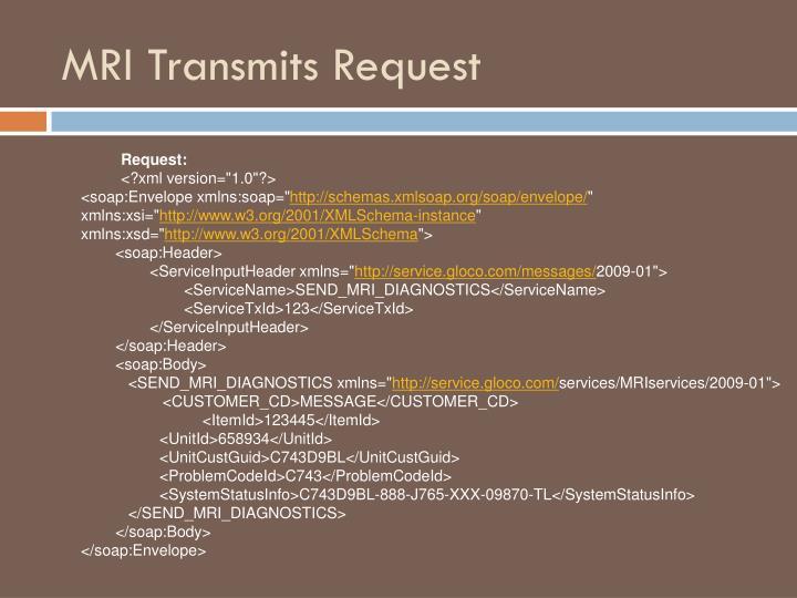 MRI Transmits Request