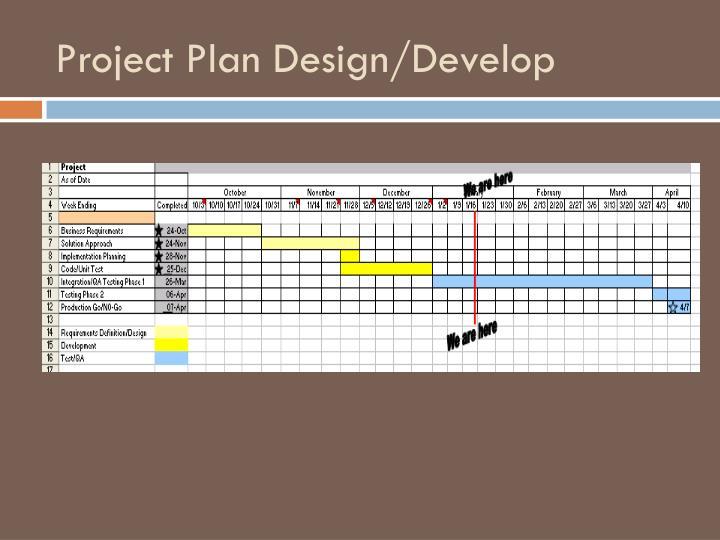Project Plan Design/Develop