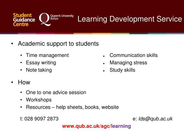Learning Development Service