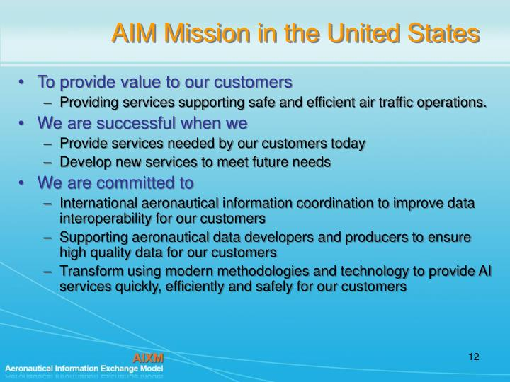 AIM Mission in the United States