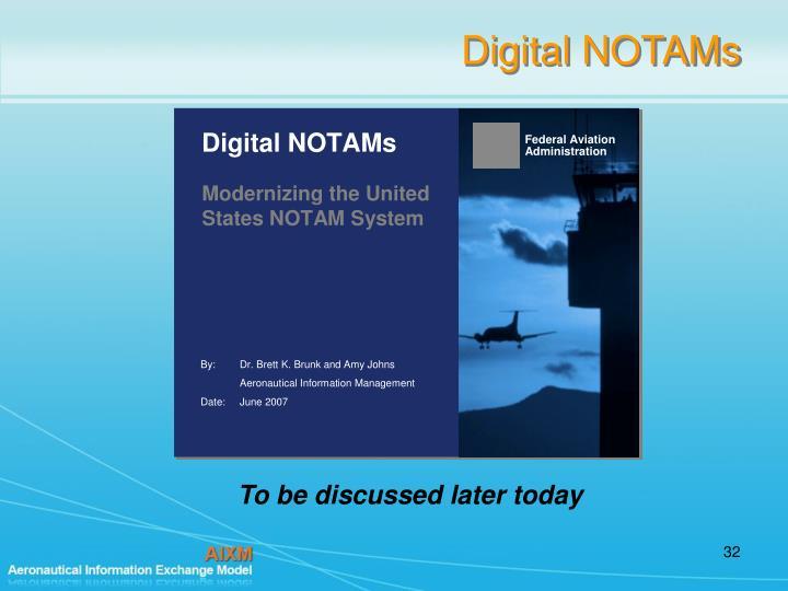 Digital NOTAMs