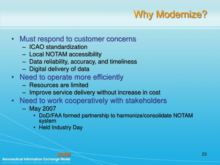 Why Modernize?