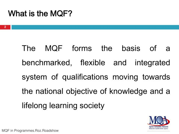 What is the MQF?