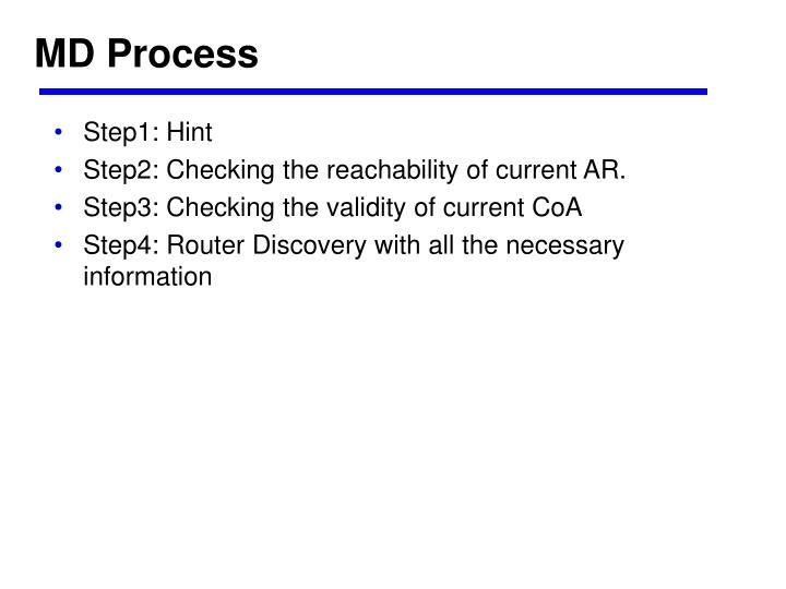MD Process