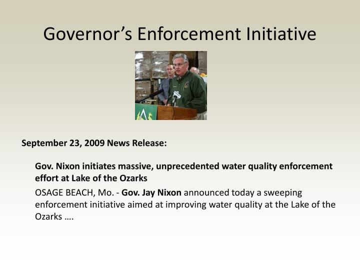 Governor's Enforcement Initiative