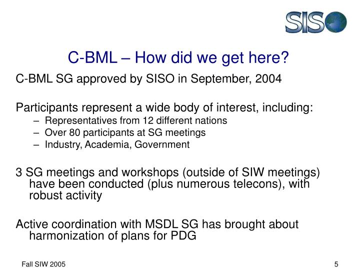 C-BML – How did we get here?