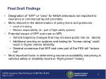 final draft findings