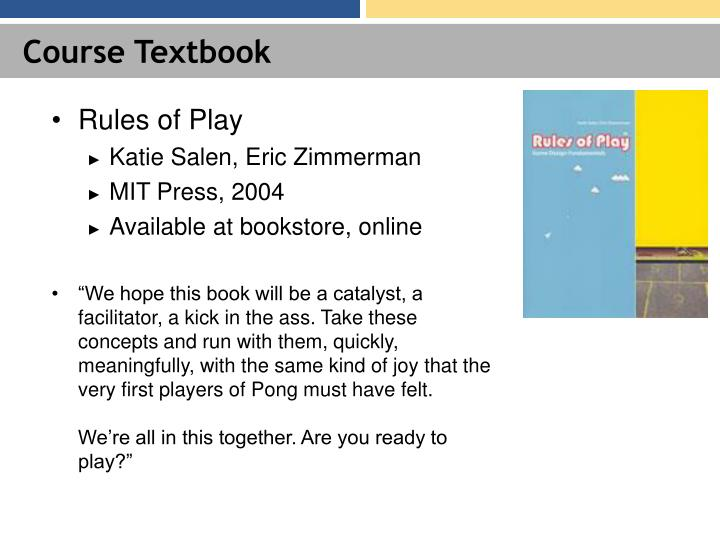 Course Textbook