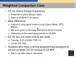 weighted companion class
