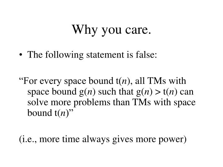 Why you care.
