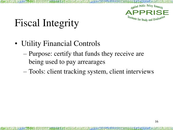 Fiscal Integrity