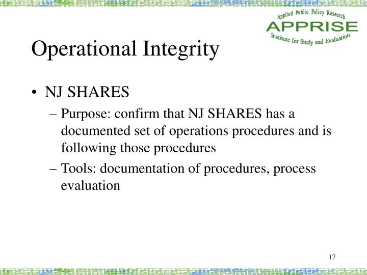 Operational Integrity
