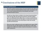 conclusions of the mep3